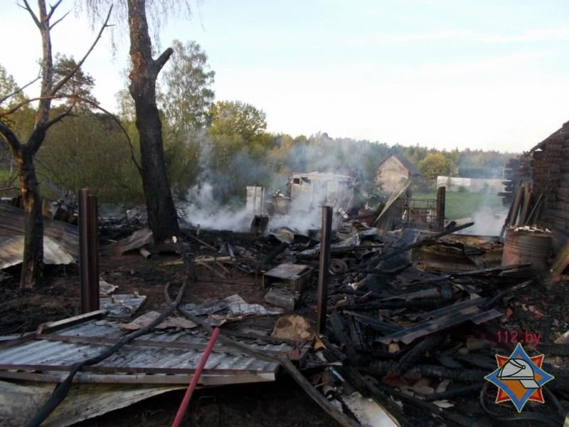 Трое жителей Новополоцка погибли на пожаре в Полоцком районе, фото-1