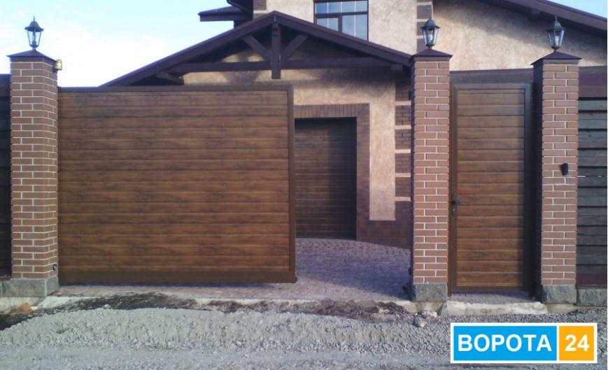 алюминиевые ворота откатные и калитка, гаражные ворота.png 1