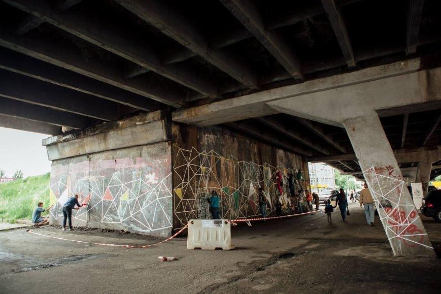 Столичные активисты раскрасили путепровод на Шулявке (ФОТО), фото-2