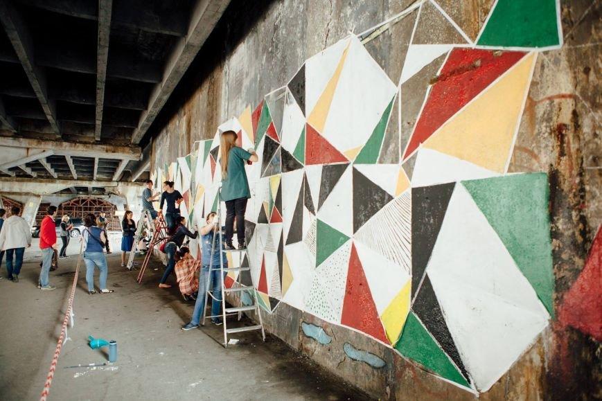 Столичные активисты раскрасили путепровод на Шулявке (ФОТО), фото-1