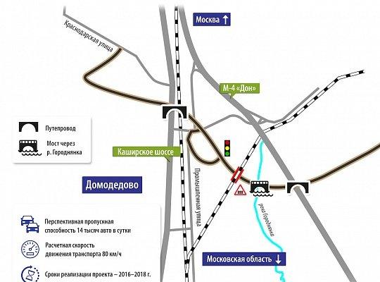 Установлены первые основания опор на строящемся путепроводе в Домодедово, фото-1