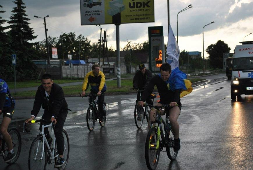 Экстремальный велопробег в Павлограде: велолюбителей не остановил даже ливень, фото-1