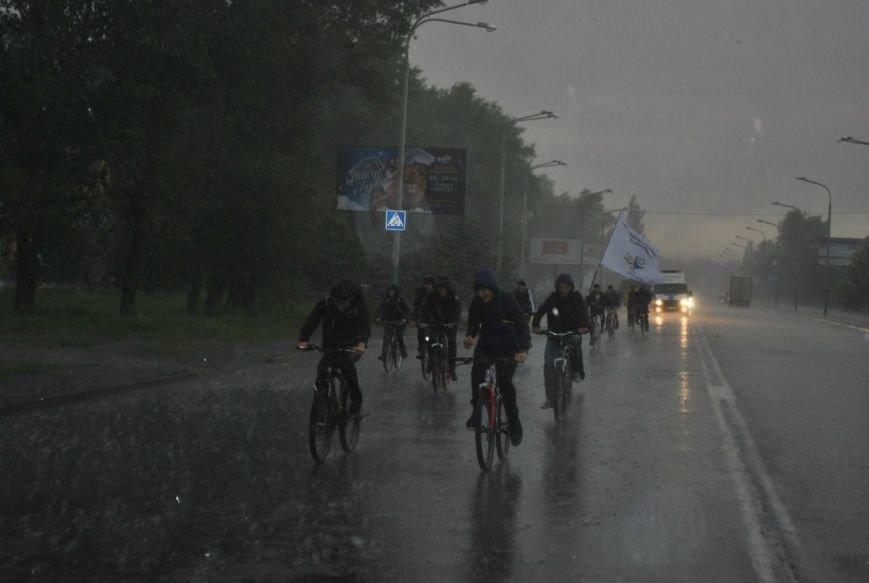 Экстремальный велопробег в Павлограде: велолюбителей не остановил даже ливень, фото-2
