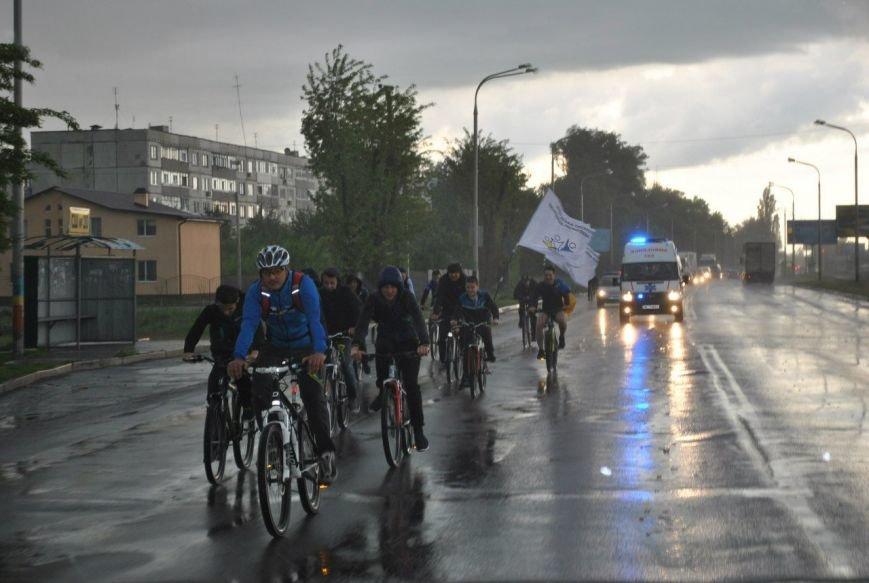 Экстремальный велопробег в Павлограде: велолюбителей не остановил даже ливень, фото-3