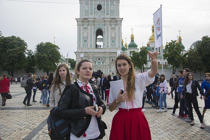 День вышиванки в Киеве: живая цепь объединила две колокольни (ФОТОРЕПОРТАЖ), фото-9