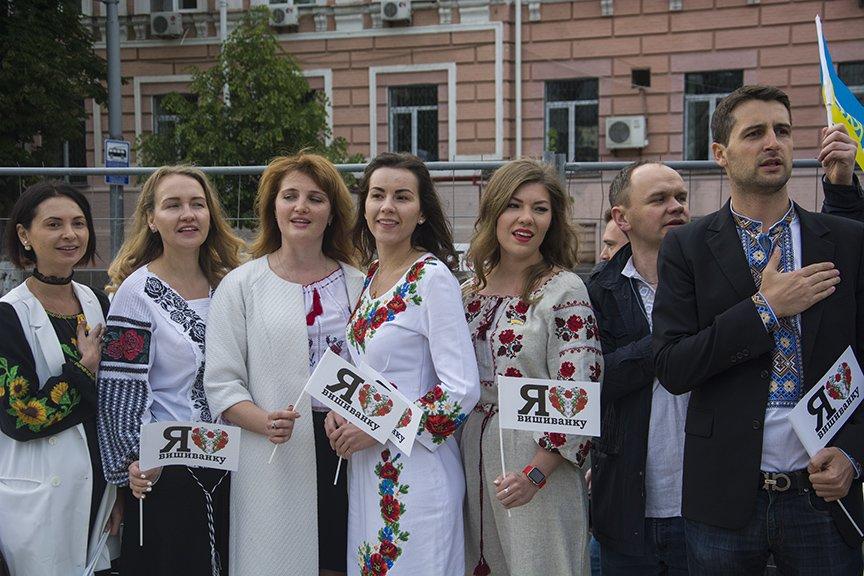 День вышиванки в Киеве: живая цепь объединила две колокольни (ФОТОРЕПОРТАЖ), фото-16