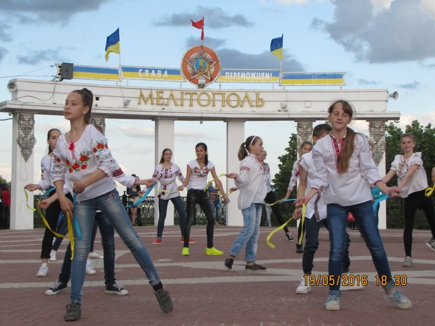 Мелитопольцы вышли на парад в вышиванках, фото-5