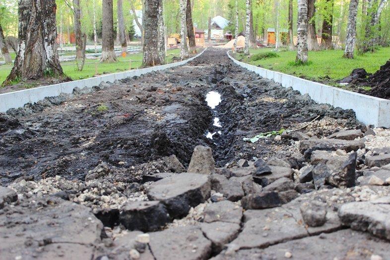 В Кировском парке Сыктывкара идёт ремонт, фото-1