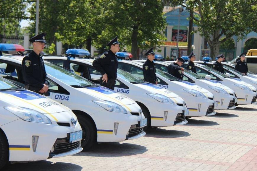 Сегодня в Херсоне патрульная полиция отчиталась перед горожанами о 100 днях своей работы (фото), фото-1