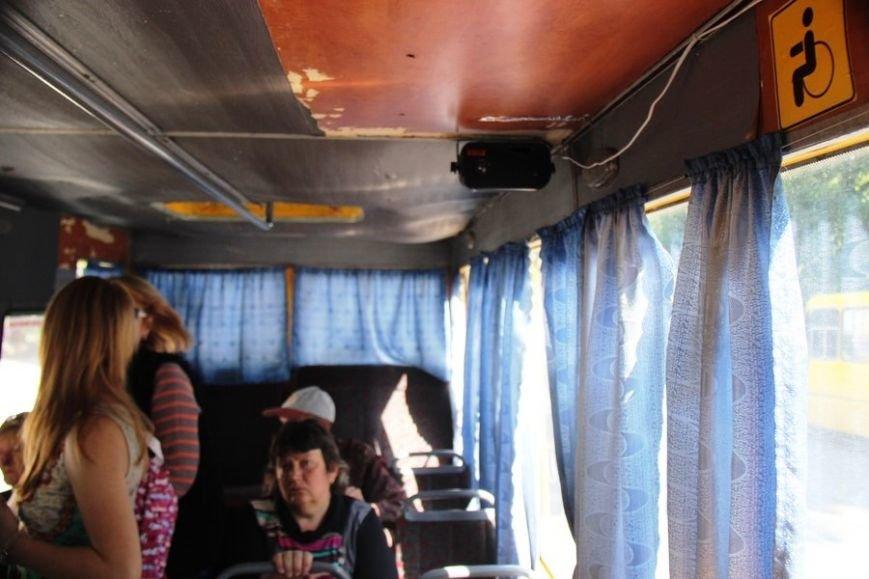 В херсонских маршрутках появились автоинформаторы (фото), фото-1