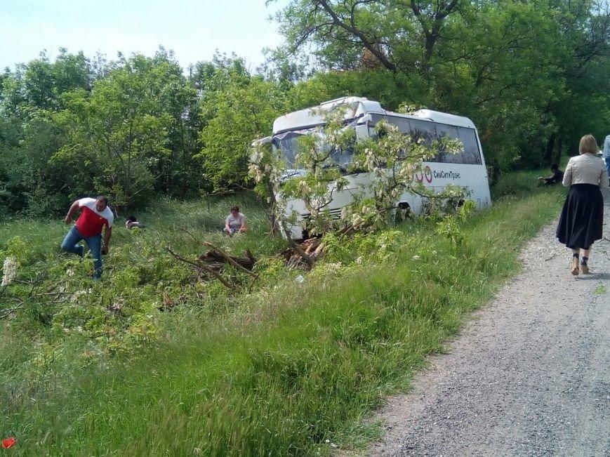 В Крыму сошел с трассы рейсовый автобус, фото-1