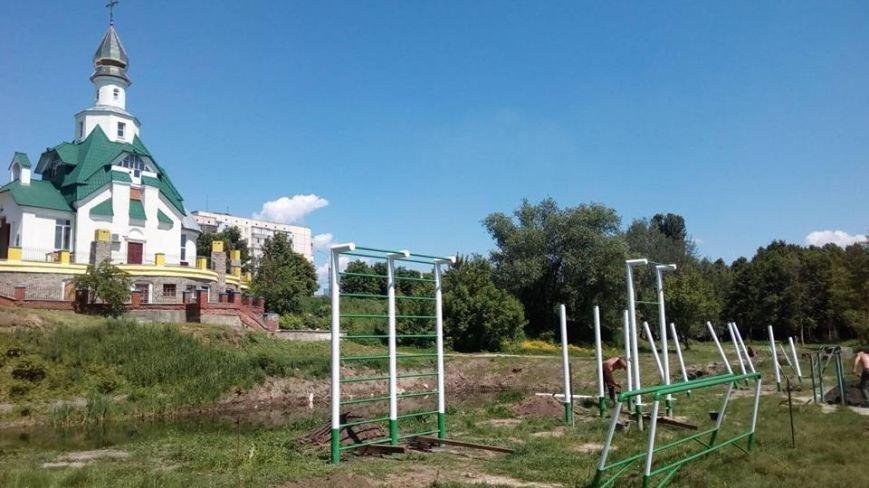 Фотофакт: в місті будують ще один спортмайданчик, фото-1