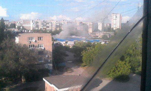 В Макеевке горел крупный рынок (ФОТО, ВИДЕО), фото-1