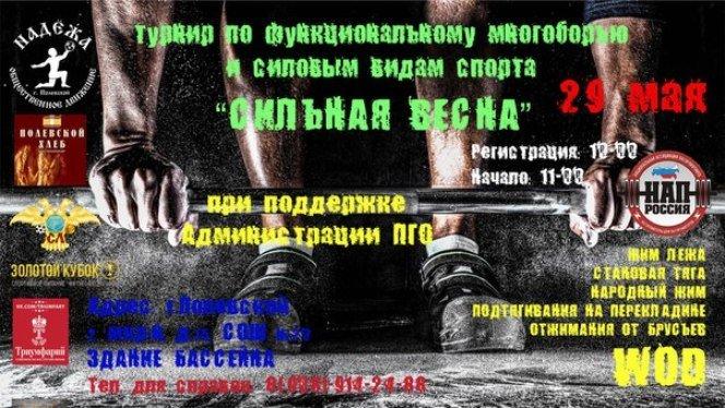 турнир по функциональному многоборью и силовым видам спорта 29 мая