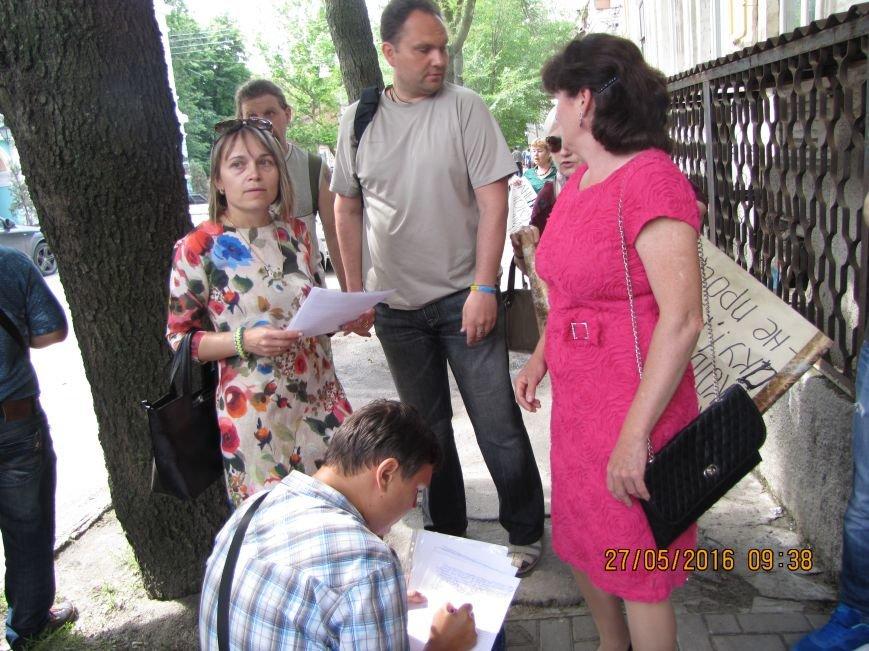 Перед сессией Мелитопольского горсовета под стенами мэрии общественники организовали пикет, фото-2