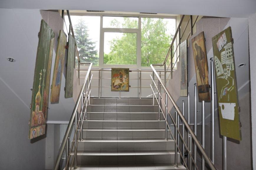В Краматорском горсовете развесили иконы, фото-6