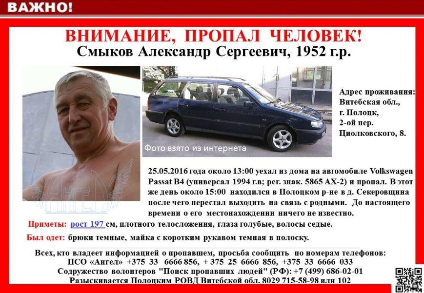 63-летний житель Полоцка уехал в деревню и пропал вместе с машиной, фото-1