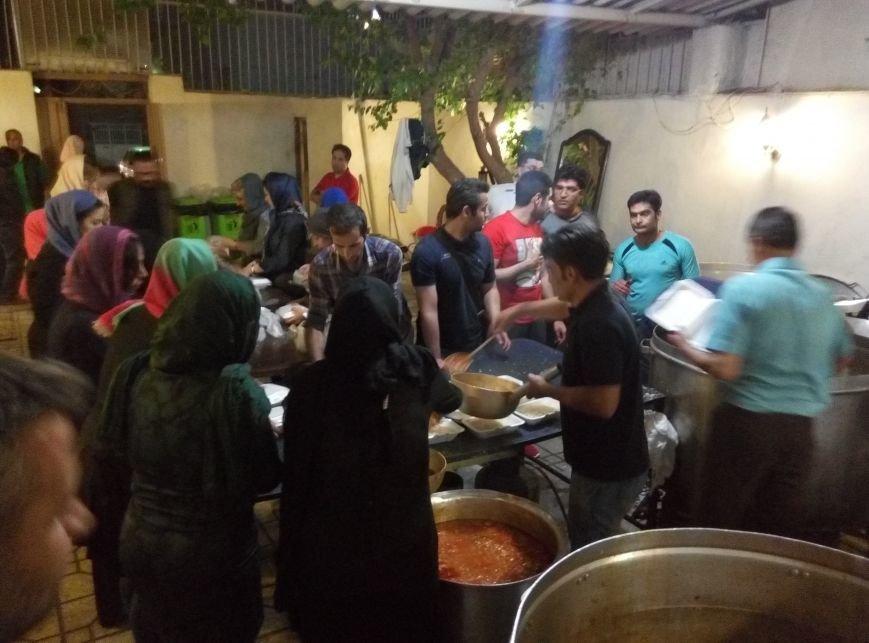 serving food for homeless