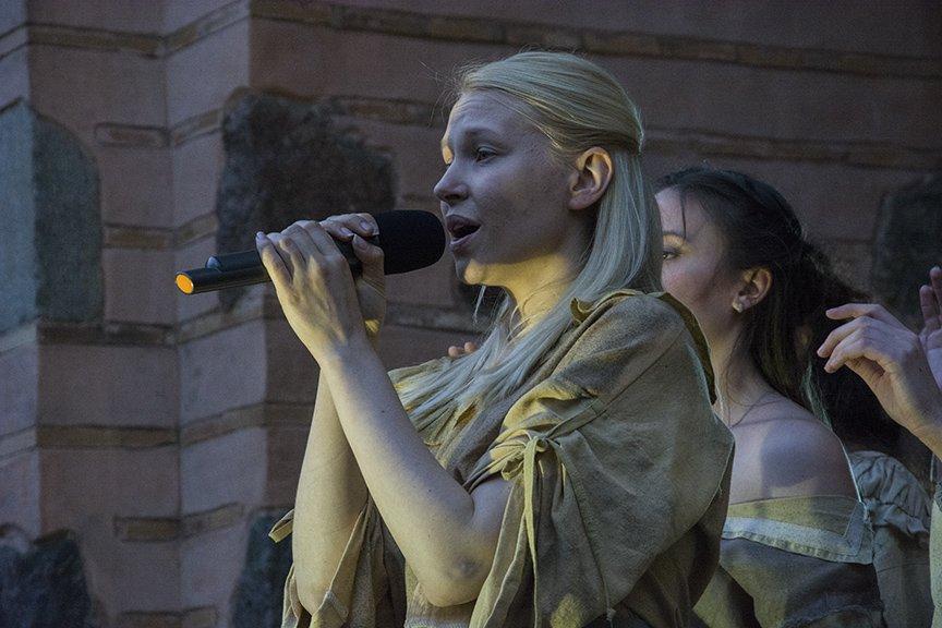 У Золотых ворот прошла постановка о защитниках средневекового Киева и современной Украины, фото-18