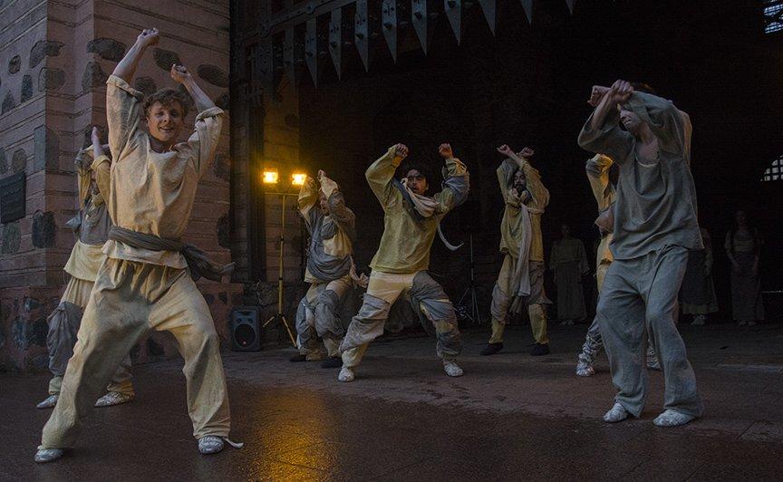 У Золотых ворот прошла постановка о защитниках средневекового Киева и современной Украины, фото-9