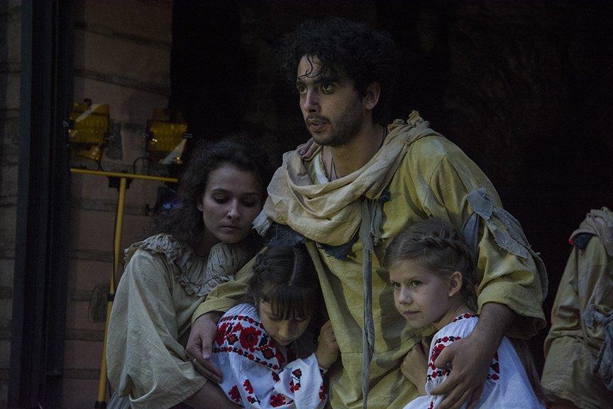 У Золотых ворот прошла постановка о защитниках средневекового Киева и современной Украины, фото-12