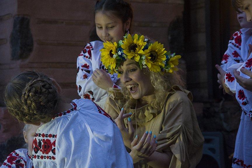 У Золотых ворот прошла постановка о защитниках средневекового Киева и современной Украины, фото-8