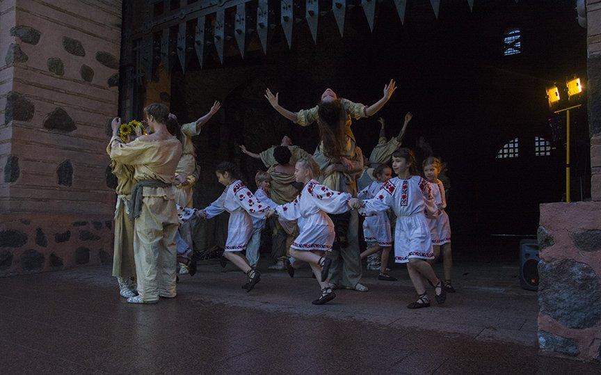 У Золотых ворот прошла постановка о защитниках средневекового Киева и современной Украины, фото-6