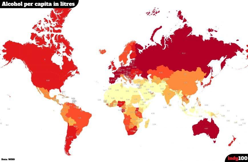 В яких країнах найбільше п'ють?, фото-1
