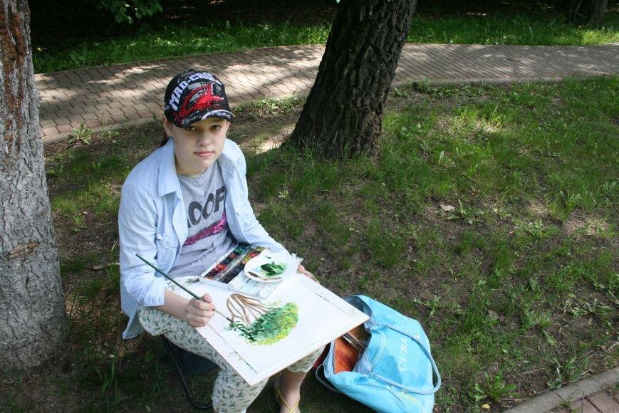 В Троицке начались уроки уличной живописи, фото-10