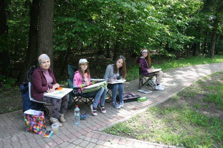 В Троицке начались уроки уличной живописи, фото-9