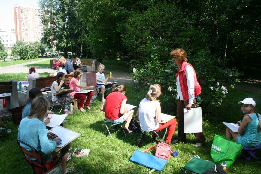 В Троицке начались уроки уличной живописи, фото-6