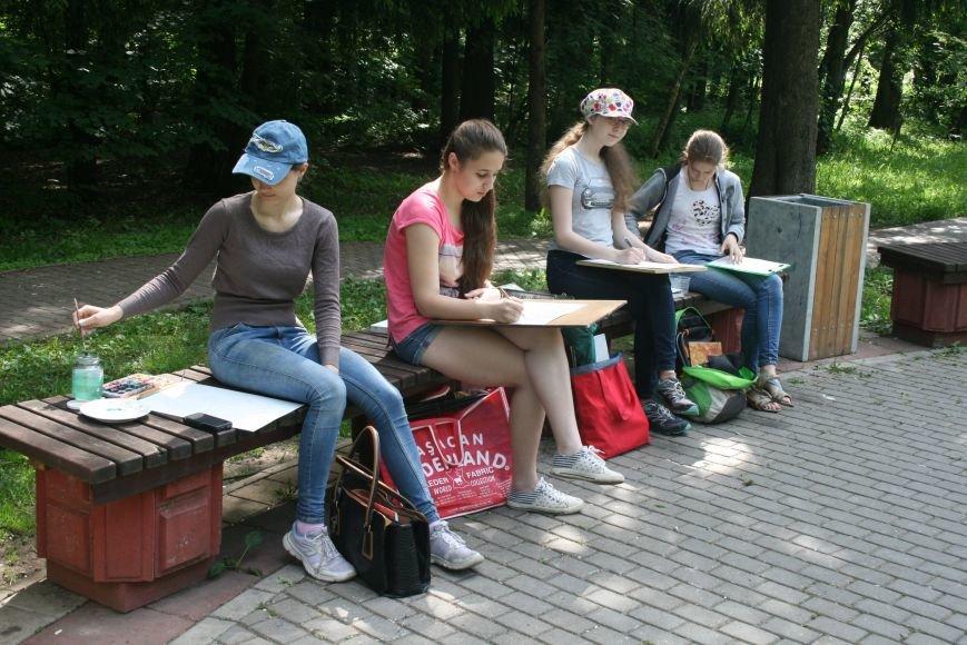 В Троицке начались уроки уличной живописи, фото-5