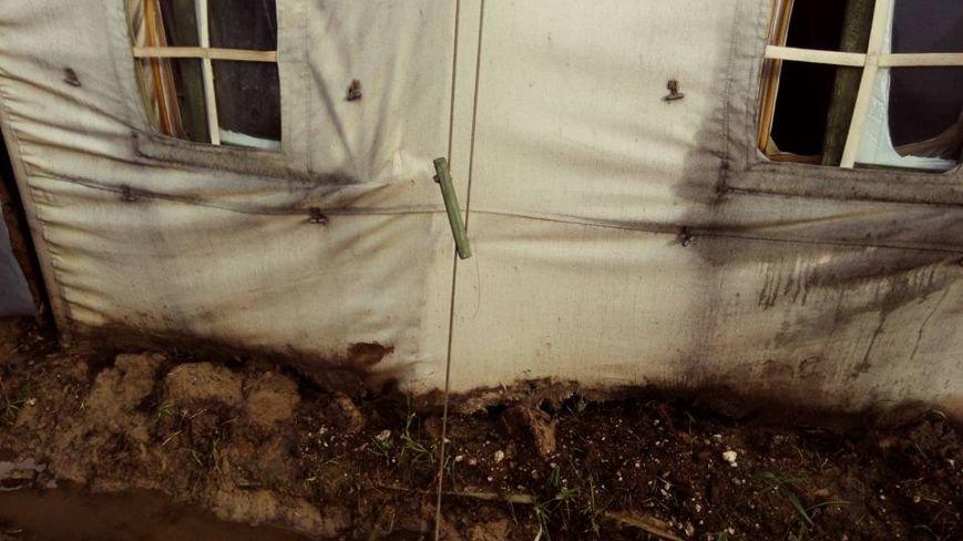Черниговские палатки для военных развалились после первого дождя, фото-5
