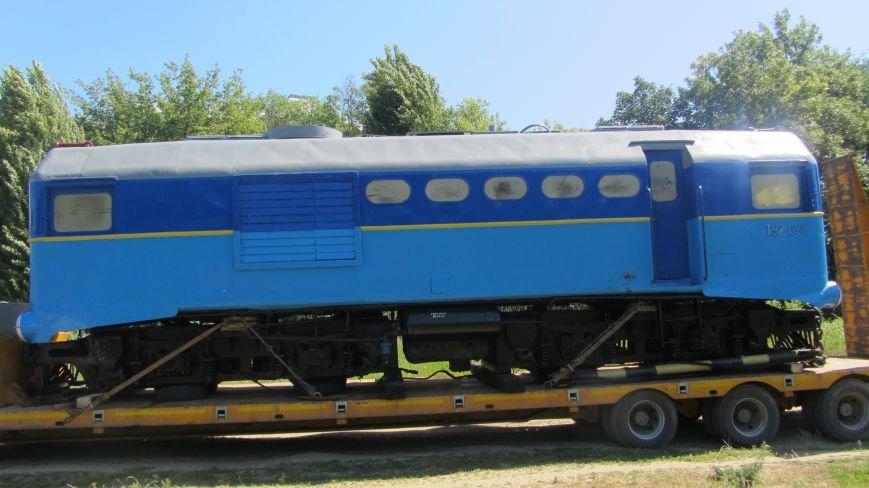 Новий тепловоз дитячої залізниці – вже на березі Ужа: фото, фото-6