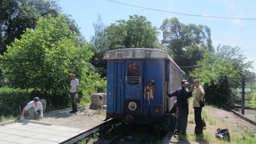 Новий тепловоз дитячої залізниці – вже на березі Ужа: фото, фото-7