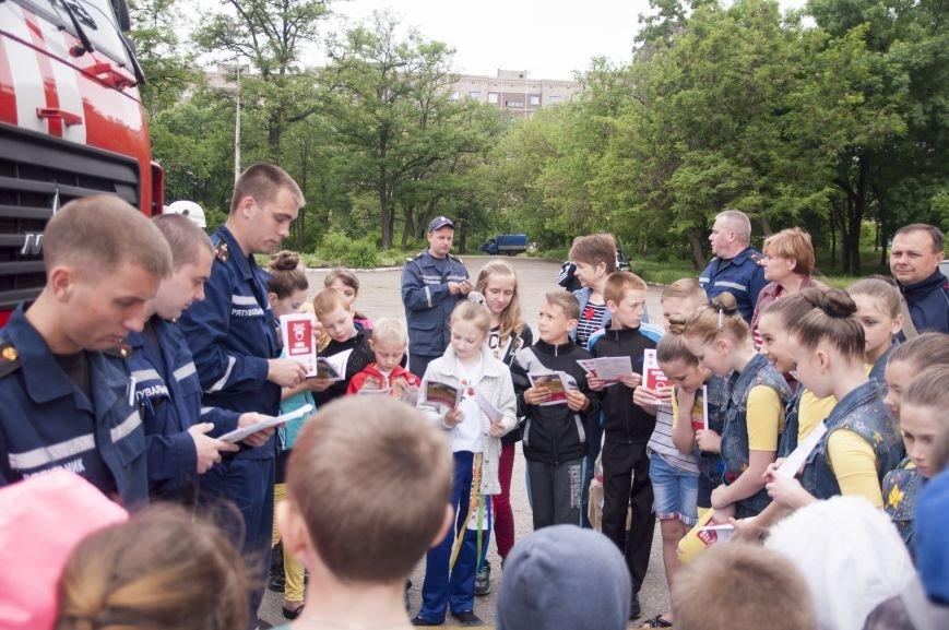 Краматорские спасатели пообщались с детьми, фото-2