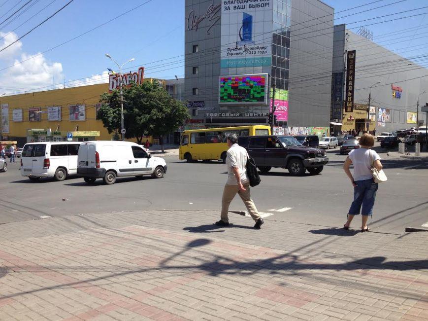 В Мариуполе на центральном перекрестке не работает светофор (Фотофакт), фото-3