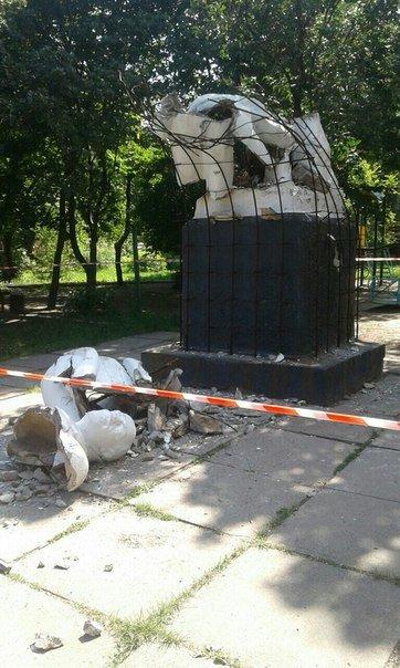 У ДНР повалили пам'ятник Леніну, фото-2