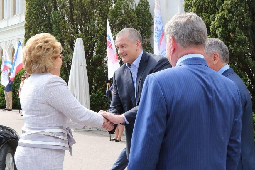 Аксёнов поддержал предложение Матвиенко придать Ливадийскому форуму более высокий международный статус (ФОТО), фото-1