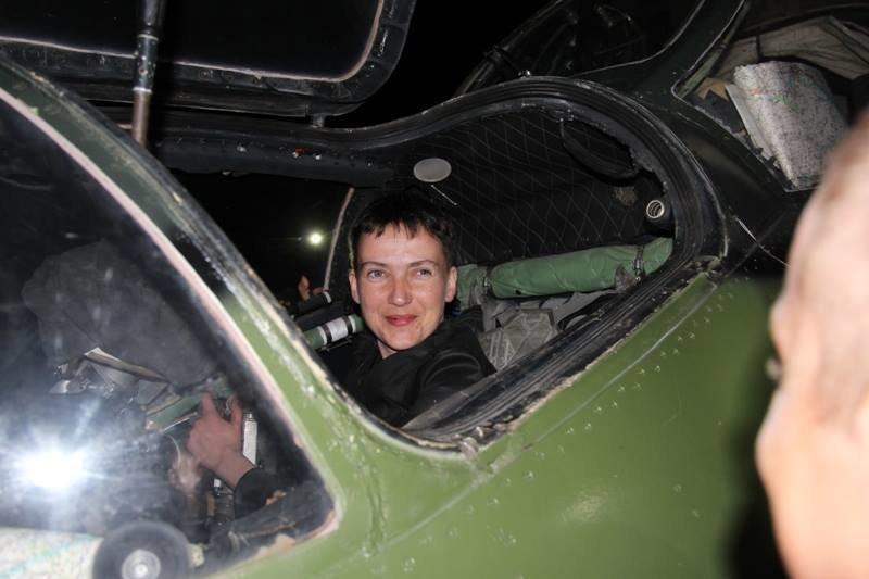 В зоне АТО на боевом вертолете летала Надежда Савченко, фото-2
