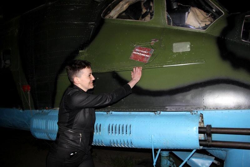 В зоне АТО на боевом вертолете летала Надежда Савченко, фото-1