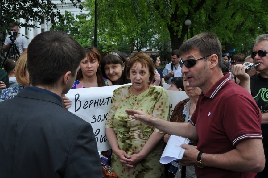 В Краматорске начался митинг переселенцев (ВИДЕО), фото-12