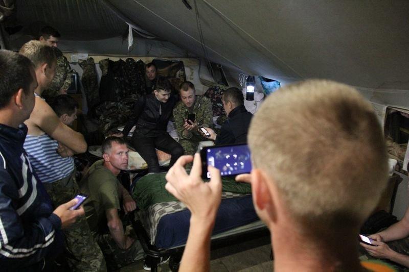 Савченко побывала в зоне АТО на Донбассе (ФОТО), фото-8