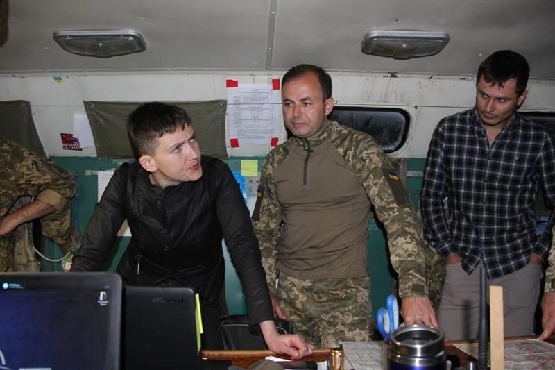 Савченко побывала в зоне АТО на Донбассе (ФОТО), фото-3