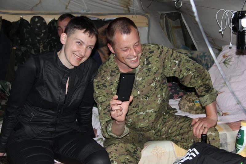 Савченко побывала в зоне АТО на Донбассе (ФОТО), фото-9