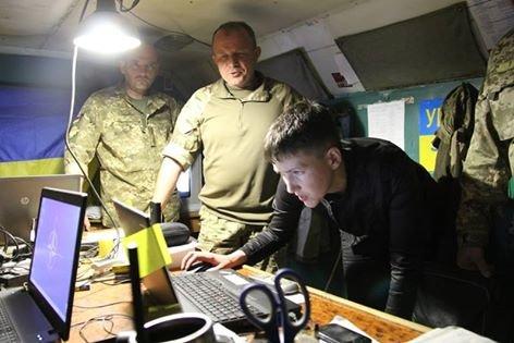 Савченко побывала в зоне АТО на Донбассе (ФОТО), фото-1