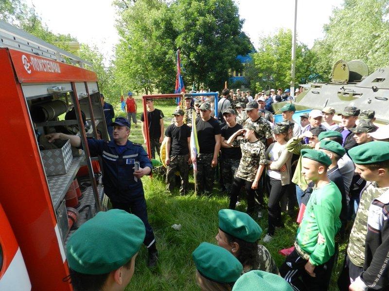 Спасатели приняли участие в областном этапе военно-патриотической игры «Сокол» («Джура») (фото), фото-1