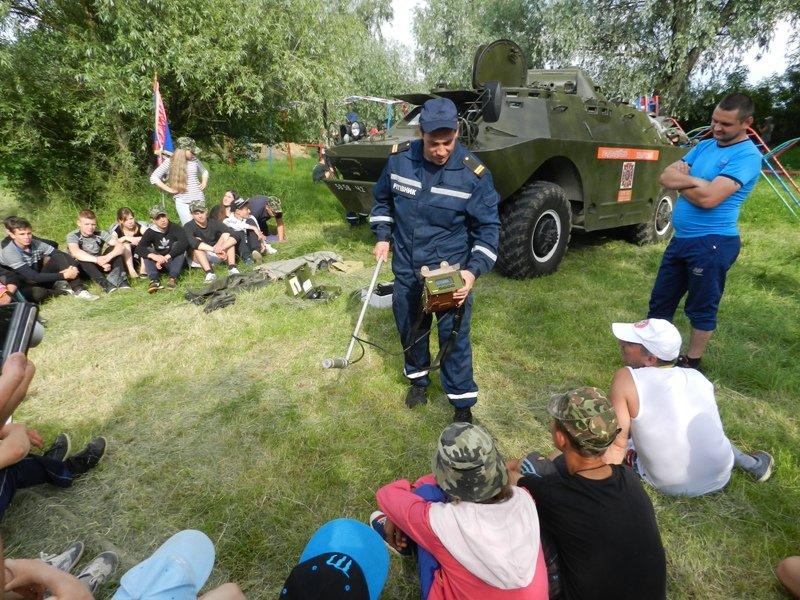 Спасатели приняли участие в областном этапе военно-патриотической игры «Сокол» («Джура») (фото), фото-2
