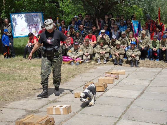 """Кинологи и полицейские отдела быстрого реагирования на Всеукраинской игре """"Сокол"""" (""""Джура"""") показали, на что они способны (фото), фото-1"""