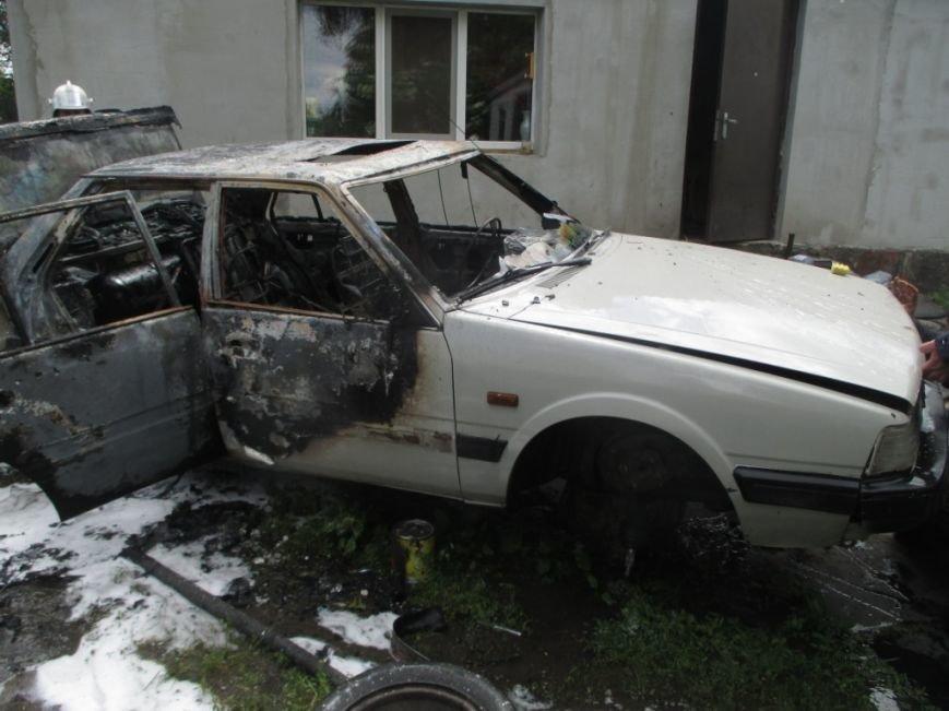На одной из улиц Кременчуга сгорела Мазда 626 (ФОТО), фото-1